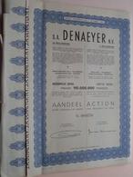 DENAEYER Willebroek / Nr. 099576 En 77 (gekleefd) : Effect Gecreëerd Na 1944 ( Zie Foto's ) ! - Actions & Titres