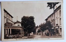 CPA 81 Saint Sulpice La Pointe Hôtel Café L. Peyraud Garage Renault Moto Avenue De La Gare 1946 - Saint Sulpice