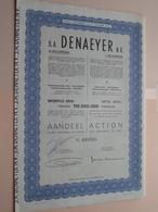 DENAEYER Willebroek / Nr. 099595 : Effect Gecreëerd Na 1944 ( Zie Foto's ) ! - Actions & Titres