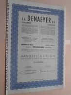 DENAEYER Willebroek / Nr. 099596 : Effect Gecreëerd Na 1944 ( Zie Foto's ) ! - Actions & Titres