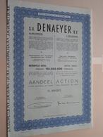 DENAEYER Willebroek / Nr. 099597 : Effect Gecreëerd Na 1944 ( Zie Foto's ) ! - Actions & Titres