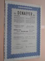 DENAEYER Willebroek / Nr. 099598 : Effect Gecreëerd Na 1944 ( Zie Foto's ) ! - Actions & Titres
