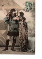 LE LOT DE 4 CPA. Un Couple En Costume Gaulois. Précurseur. En Très Bon état. Ecrites En 1906. Voir SCAN. - Couples