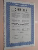 DENAEYER Willebroek / Nr. 099828 : Effect Gecreëerd Na 1944 ( Zie Foto's ) ! - Actions & Titres
