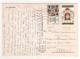 Beaux Timbres , Stamps Sur Cp , Carte , Postcard Pour La France Du 08/06/1974 - Tunisie (1956-...)