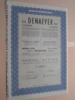DENAEYER Willebroek / Nr. 125217 : Effect Gecreëerd Na 1944 ( Zie Foto's ) ! - Actions & Titres