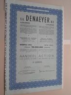 DENAEYER Willebroek / Nr. 125218 : Effect Gecreëerd Na 1944 ( Zie Foto's ) ! - Actions & Titres