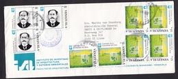Venezuela: Cover To Netherlands, 1991, 9 Stamps, Agriculture, Plant Science (1 Stamp Damaged) - Venezuela