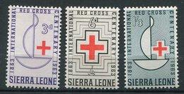 Sierra Leone **  N° 240 à 242 - Croix Rouge - Sierra Leone (1961-...)