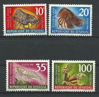 "Senegal YT 305 à 308 "" Crustacés "" 1968 Neuf** - Senegal (1960-...)"