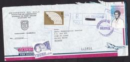 Venezuela: Registered Cover Delicias To Netherlands, 1981, 3 Stamps, Error In R-number So New R-cancel (serious Damage!) - Venezuela
