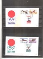 JO Tokyo 1964 - FDC Rép. Du Congo - Série Complète - Ete 1964: Tokyo