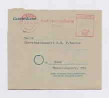 Dienstbrief Rechnung AFS - BONN, Justizverwaltung 1952 + Vignette - Poststempel - Freistempel