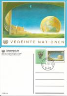 Onu, United Nations, Nations Unies, Bureau De Vienne, Entier Postal 1992, émis En 1997, Globe Terrestre , Oblitéré - Centre International De Vienne