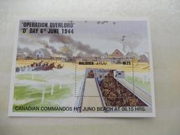 Maldives Bloc 306 / Blok War World 1940 - 1945 Neuf New (debarquement) Guerre , D Day, Canadian Commandos - Guerre Mondiale (Seconde)