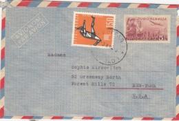 COVER YUGOSLAVIA TO NEW-YORK STATIONNERY - Yougoslavie