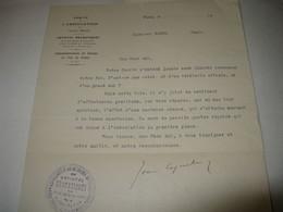 LETTRE SIGNEE DE JEAN COQUELIN 1930 ACTEUR COMEDIE-FRANCAISE DIRECTEUR THEATRES PARIS Au MIME WAGUE - Autographs