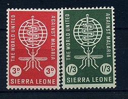 Sierra Leone **  N° 211/212 - Eradication Du Paludisme - Sierra Leone (1961-...)
