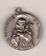 Médaille Religieuse St Francois D Assise Vierge Métal 3 PHOTOS Diam 30 (TTB état) - Pendentifs