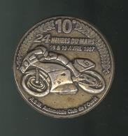 Badge 24 Heures Du Mans Moto 1987 - Automobile Club De L'Ouest - Sports