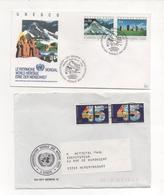 2 Letters ONU 1990-92 Geneve - Genf - Büro Der Vereinten Nationen