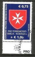 2012 ORDINE DI MALTA SMOM   Emilaia Romagna Serie Completa Usata FDC Bellissima - Malte (Ordre De)