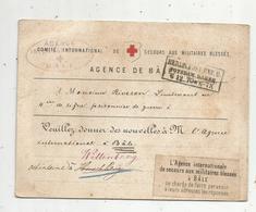 Carte , 7-12-1870 , Agence Internationale De Secours Aux Militaires Blessés à Bâle ,Allemagne, BERLIN. POST. EXP.9. - Conf. De L' All. Du Nord
