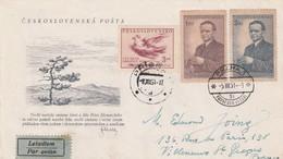 LETTRE TCHECOSLOVAQUIE PAR AVION POUR LA FRANCE - Tchécoslovaquie