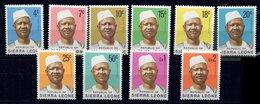 Sierra Leone **  N° 386 à 398  Manque 399  Portrait Du Président Siaka - Sierra Leone (1961-...)