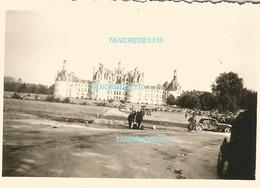 WW2 PHOTO ORIGINALE Soldat Allemand Chateau De CHAMBORD Bracieux Blois Loir Et Cher 41 Entre Tours & Orléans - 1939-45