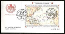 1992 COLOMBO  ORDINE DI MALTA SMOM   FDC Foglietto Serie Su FDC Bellissima - Malte (Ordre De)