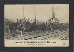CPA Poste Facteur Courrier Déraillement Du Train Poste Marseille Melun Chemin De Fer écrite - Poste & Facteurs