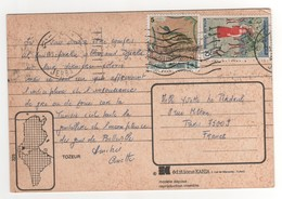 Beaux Timbres , Stamps Sur Cp , Carte , Postcard Pour La France Du 15/07/1980 ?? - Tunisie (1956-...)