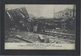 CPA Poste Facteur Courrier Déraillement Du Train Poste Marseille Melun Chemin De Fer Non Circulé - Poste & Facteurs