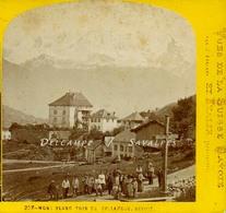 Haute-Savoie 1865 * SALLANCHES Et Le Mont-Blanc * Photo Stéréoscopique William England - Voir Scans - Photos Stéréoscopiques