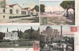 4 CPA COULEUR:TURQUIE CONSTANTINOPLE HÔPITAL FRANÇAIS TAXIM,SÉLAMLIK YILDIZ,BOUJONKDERÉ,PALAIS IMPÉRIAL FLAMOUR - Turquie
