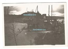 WW2 PHOTO ORIGINALE Soldat Allemand Pont Ferroviaire Ko à CREIL Près Senlis Montataire Nogent Sur OISE 60 - 1939-45