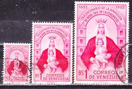 Venezuela 1952 Coromoto Serie Completa Usata - Venezuela