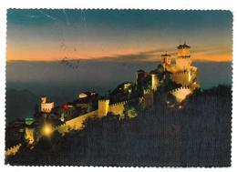 San Marino Prima Torre Di Notte Viaggiata Condizioni Come Da Scansione - San Marino