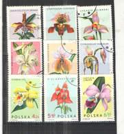 Polonia PO 1965 Orchidee Scott.1346/1354+See Scan On Scaubek Page; - 1944-.... Repubblica