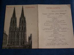 ANCIEN   KARTE  MENU  Du 04/12/1906 -  Avec Cathédrale De Cologne - Menus