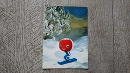 Shuss Personnage Officiel Des Xes Jeux Olympiques D'hiver N°4 Création Aline Lafargue Sport Ski 1968 - Winter Sports