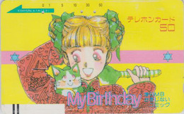 Télécarte Ancienne Japon / 110-11574 - MANGA - MY BIRTHDAY - ANIME Japan Front Bar Phonecard / A - BD COMICS TK - 10903 - BD