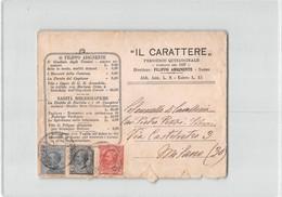 11943 SARNO IL CARATTERE PERIODICO QUINDICINALE - 1900-44 Vittorio Emanuele III