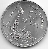 *thailand 1 Bath 1977 Km 110 Xf+ - Thaïlande