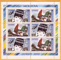 2010  Moldova Moldavie Moldau  Europe 2010. Children's Books. Cock. MI H-Blatt 12 Mint - Moldova