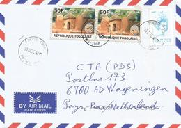 Togo 2011 Tsevie G1 Traditional Huts Houses 50f Singer Bella Bellow 450f (2002) Cover - Togo (1960-...)