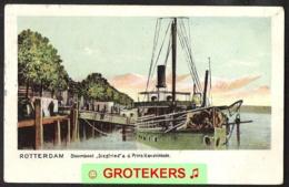 ROTTERDAM Stoomboot SIEGFRIED Aan De Prins Hendrikkade (doorloper)  1910 - Rotterdam