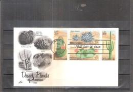 FDC U.S.A.  - Cactus - Bloc De 4 - Série Complète (à Voir) - Sukkulenten