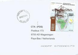 Togo 2014 Taligbo G2 Crane Harbour Bolore 200f Peace 400f Cover - Togo (1960-...)